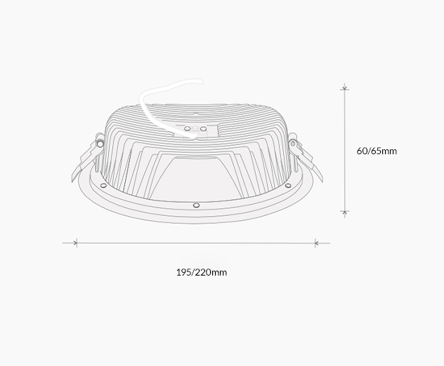 Downlight RC technical drawing