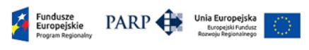 Logo firmy PARP, flaga Uni Europejskiej - Luxon LED