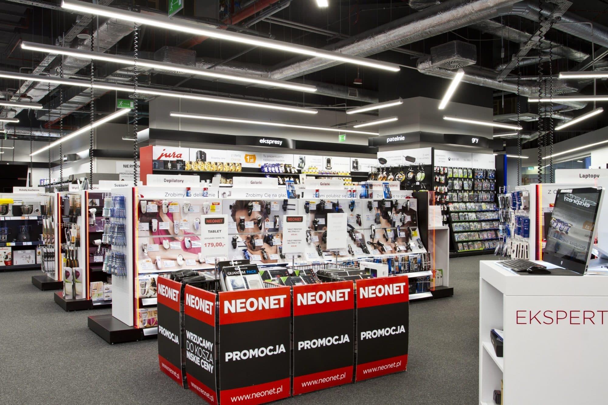 Oprawy oświetlające ekspozycje - Lumline LED - sklep Neonet - Luxon LED