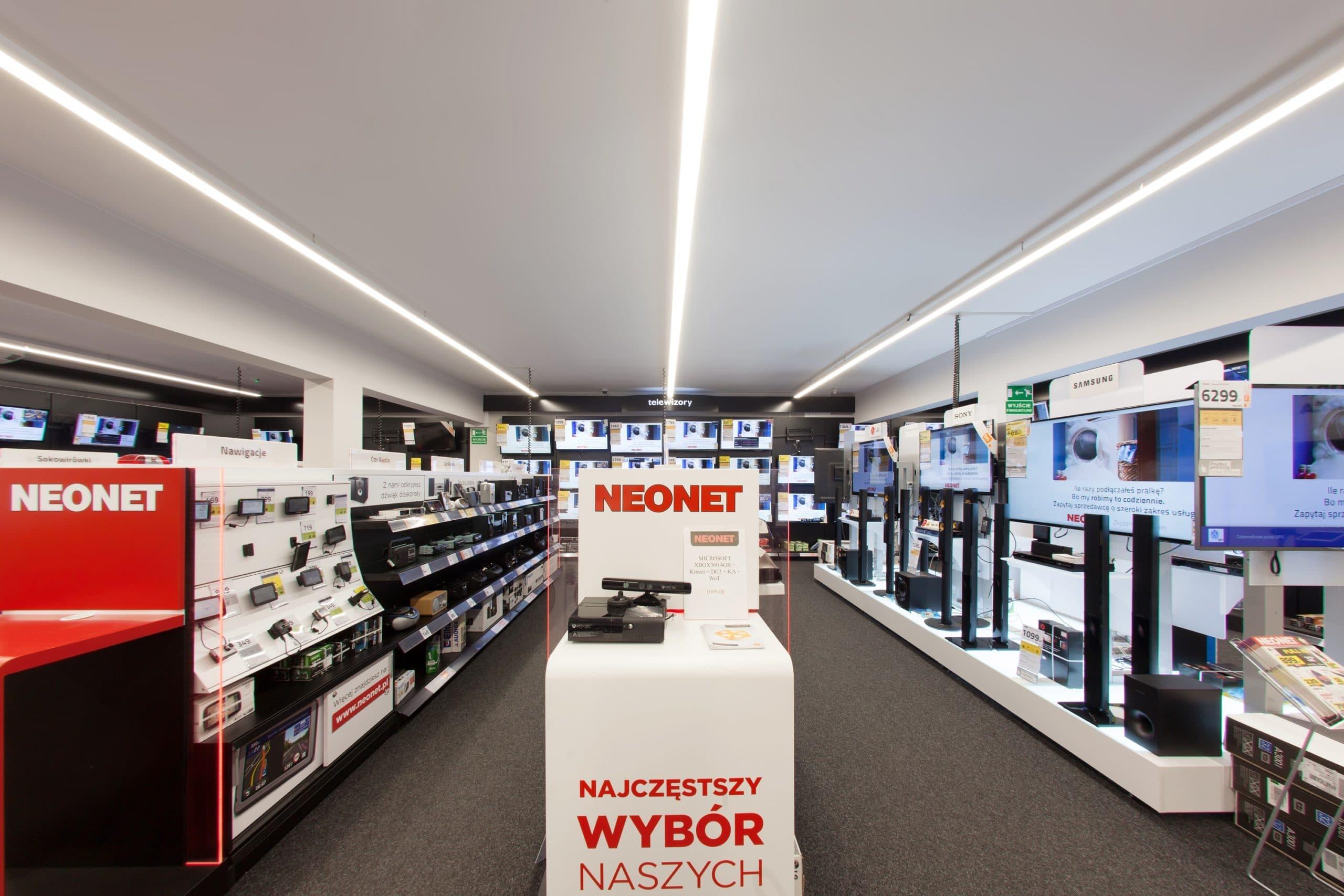 Oprawy Lumiline w zmodernizowanej sieci sklepów Neonet - Luxon LED